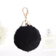 Fluffy Ball Keychain Cute Chaveiro Real Rabbit Fur Ball Key Chain For Car Key Ring Bag Pendant trinkets Pom Pom Key Chains Cheap(China (Mainland))