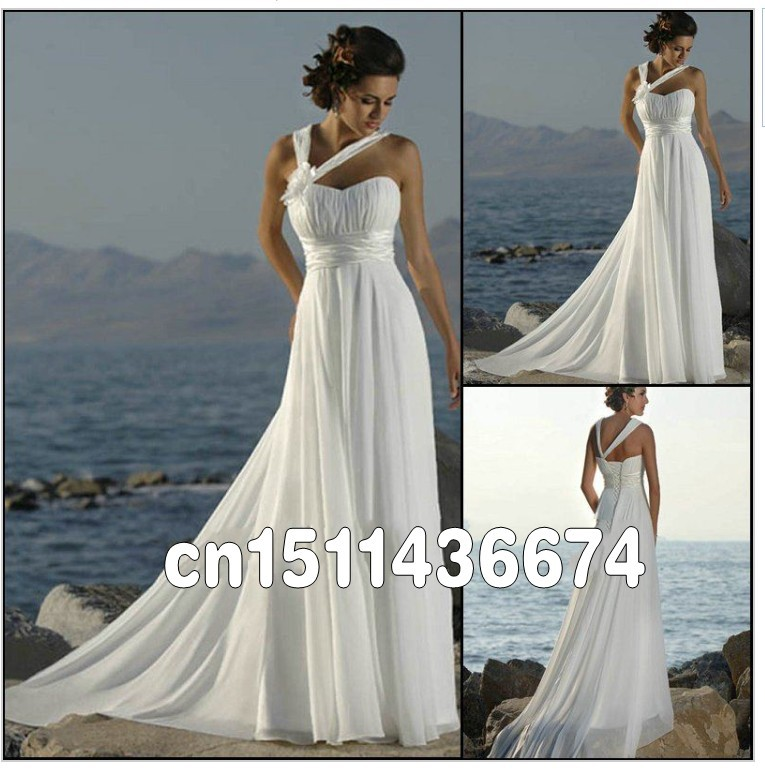Casual Beach Wedding Dress: Free-Shipping-2014-Popular-Style-Best-Selling-Designer