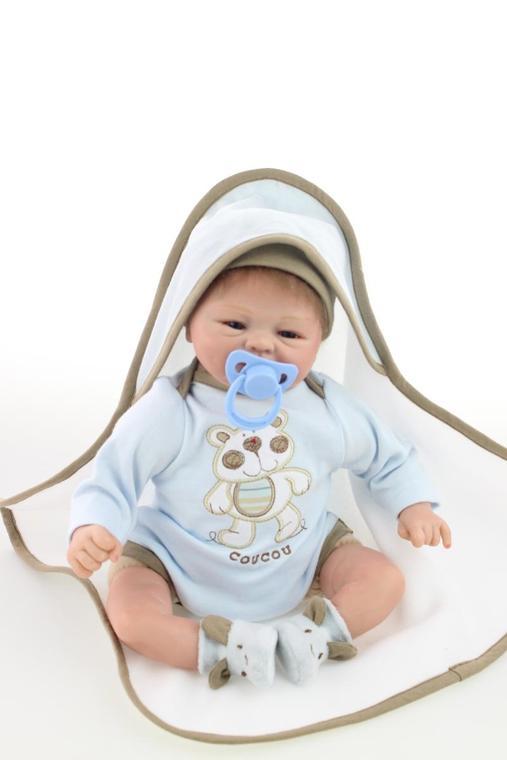 Silicone Doll Realistic Soft Silicone Reborn Baby Lifelike Baby Dolls 18 <br><br>Aliexpress