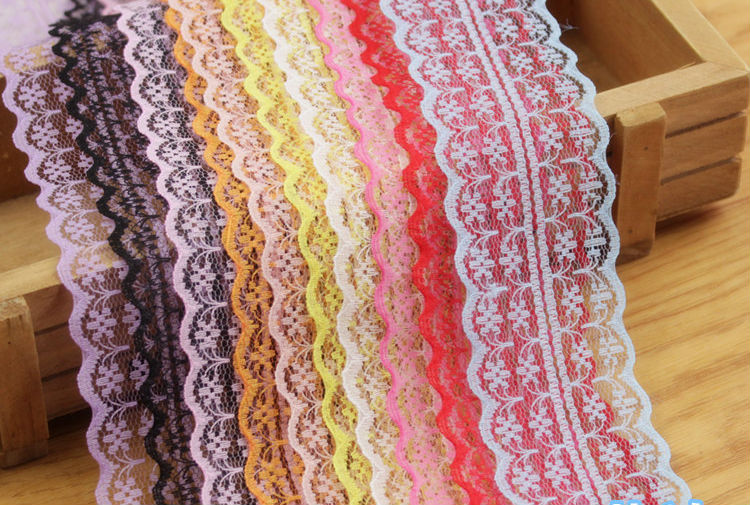 High Quality Bilateral 10 Yard Lace Ribbon Embroidered Net Lace Trim Ribbon Fabric Decor