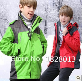 2015 new winter kid Waterproof Outdoor the children's jackets Ski suits ski sports Children outerwear clothing outfits(China (Mainland))