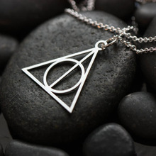 Buy Fashion Pendant Hot Movie Harry Potter -Deathly Hallows fine collares statement maxi Necklace Gifts Amulet India for $1.50 in AliExpress store
