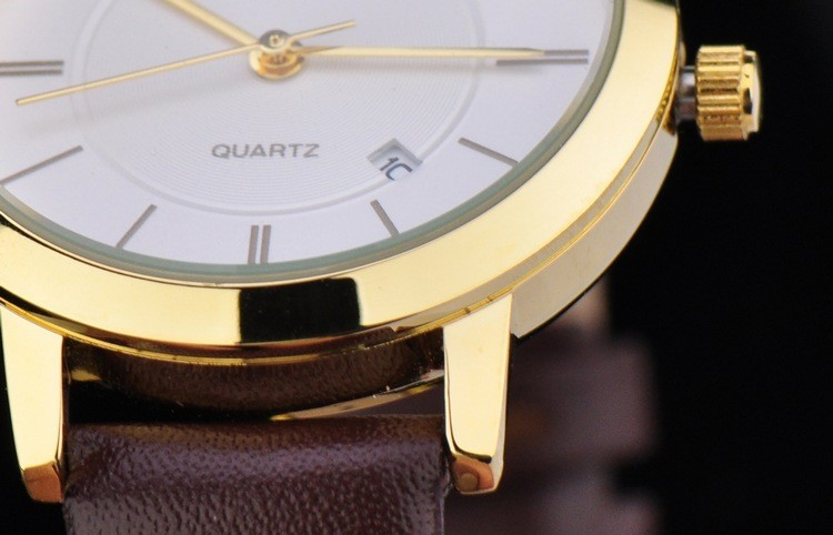 WHESTCHI часы мужчины qulity мужские кварцевые часы кожа мода платье бизнес водонепроницаемый relogio masculino