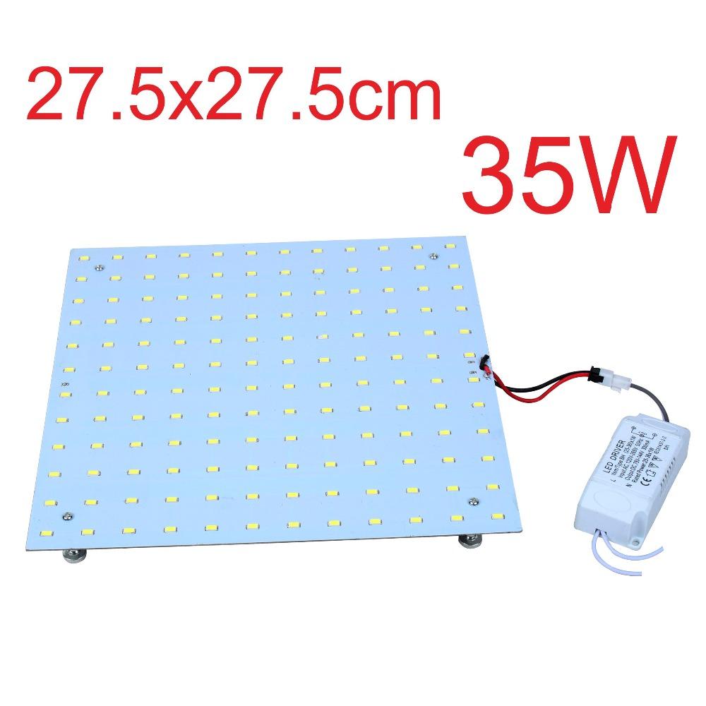 Wholesale 4PCS Square 35W 2D Retrofit LED Ceiling Lights Board Disc Plate Replacement 2D CFL Lights Bulb Disc Plate Lights(China (Mainland))