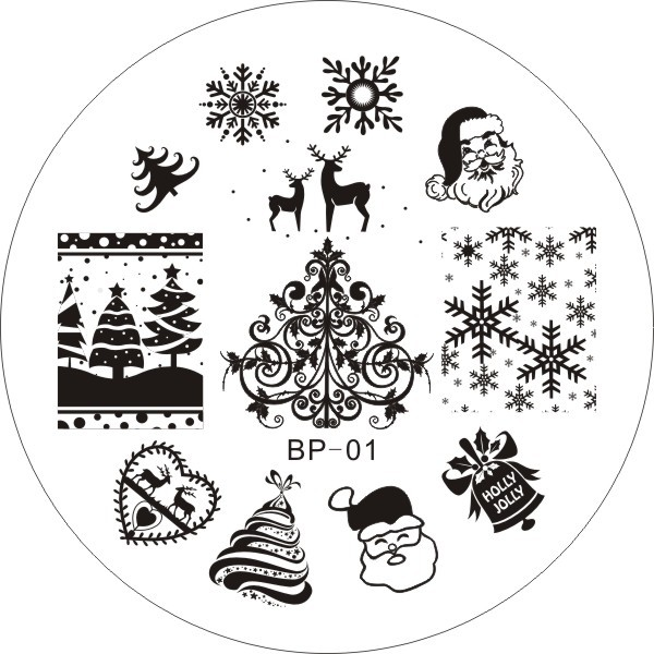 Christmas Xmas Theme Nail Art Stamp Template Image Plate Born Pretty