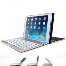 Aluminum Bluetooth Keyboard Cover Case For Apple iPad Air 5 WIth Retail Box Luxury Metal Aluminum Wireless free shipping(China (Mainland))