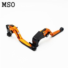 golden color foldable &Extensible Brake Clutch Lever CNC Suzuki GSXR GSX-R 600 750 1000 K1 K2 K3 K4 K5 K6 K7 K8 K9 97-12 - MSO Motorcycle store