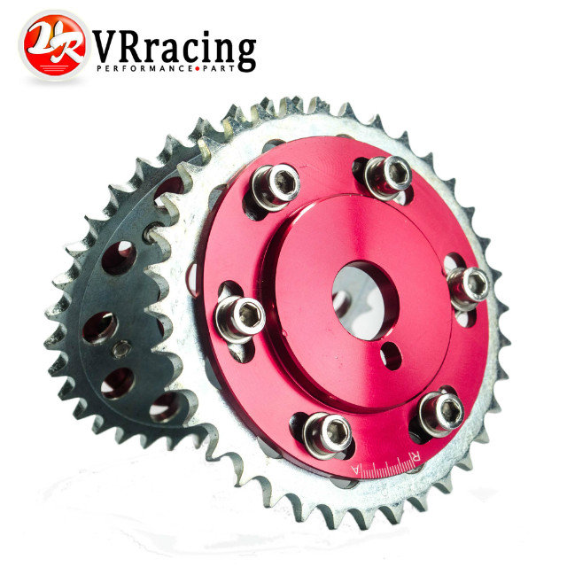 VR RACING STORE-SLIDE CAM GEAR PULLEY for NISSAN 200SX 240SX S13 S14 S15 SILVIA SR20 SR20DET RED PQY6534R