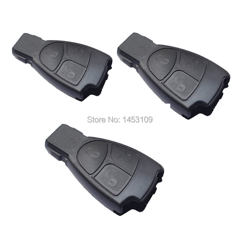 Replacement key fob for benz mercedes c e sl ml class 3 for Mercedes benz replacement keys