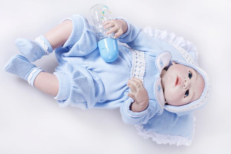 58cm New Full Silicone Reborn Child Doll Toys Handmade Lifelike Child Dwelling Doll The Birthday Reward Play Home