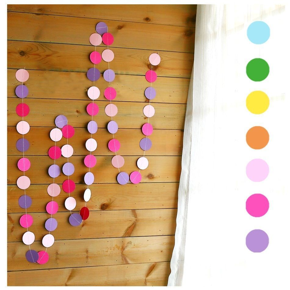 Fun Colorful Hanging Paper Garlands Flora String Chain Wedding Christmas Party Kids Decoration Round Shape New(China (Mainland))