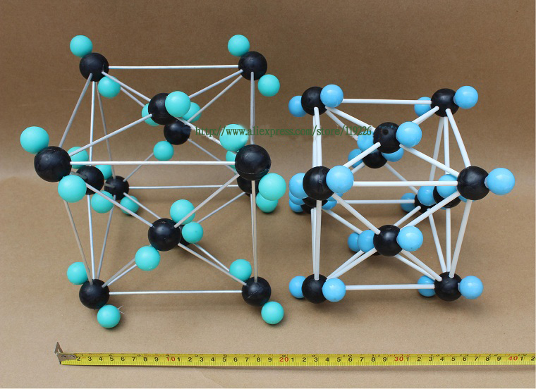 Chemical crystal structure model Carbon dioxide crystalline structural model CO2 crystals structure model free shipping(China (Mainland))