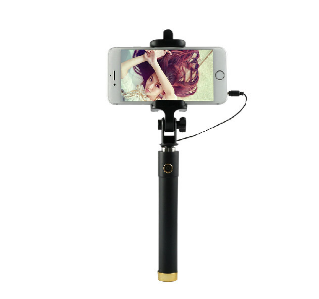 Z01 Luxury Universal Handheld Monopod Selfie Stick for Iphone 6 Plus 5S Wired Palo Selfie For