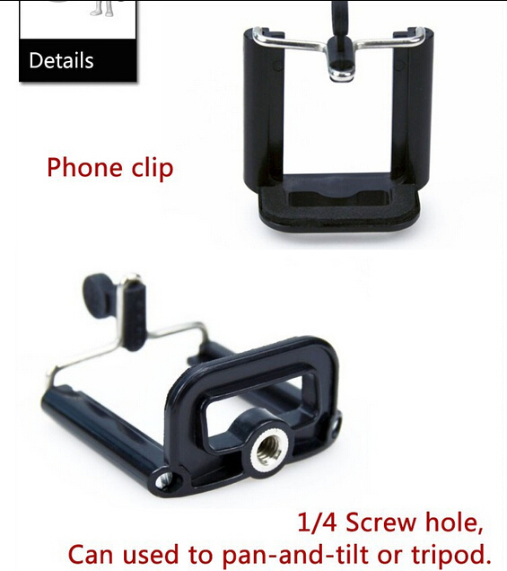 2015 Freeshipping 10PCS/LOT Cell Phone Clip Holder mount bracket Adapter For camera Tripod iPhone smartphone(China (Mainland))