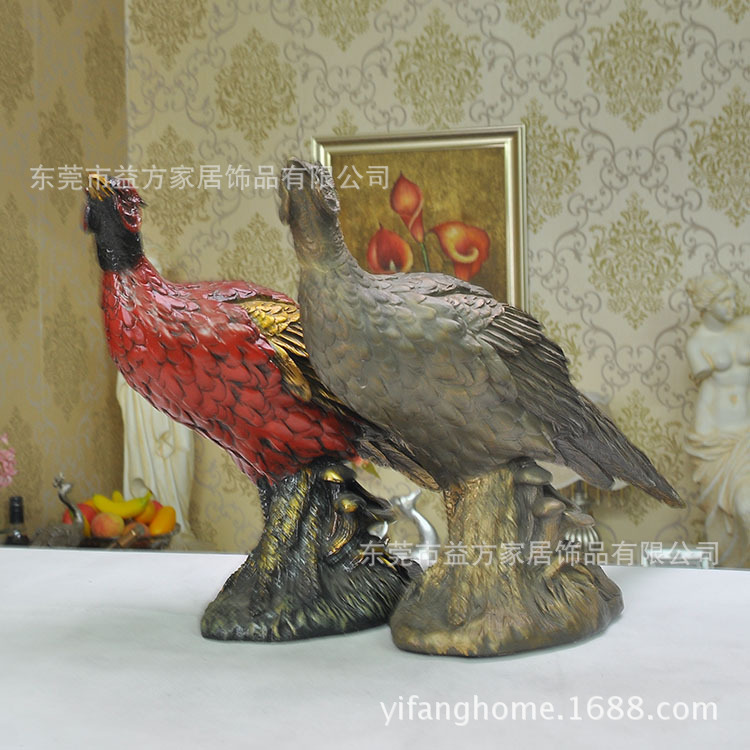 American country resin ornaments home decorations wedding gift ideas turkey den living room furnishings(China (Mainland))