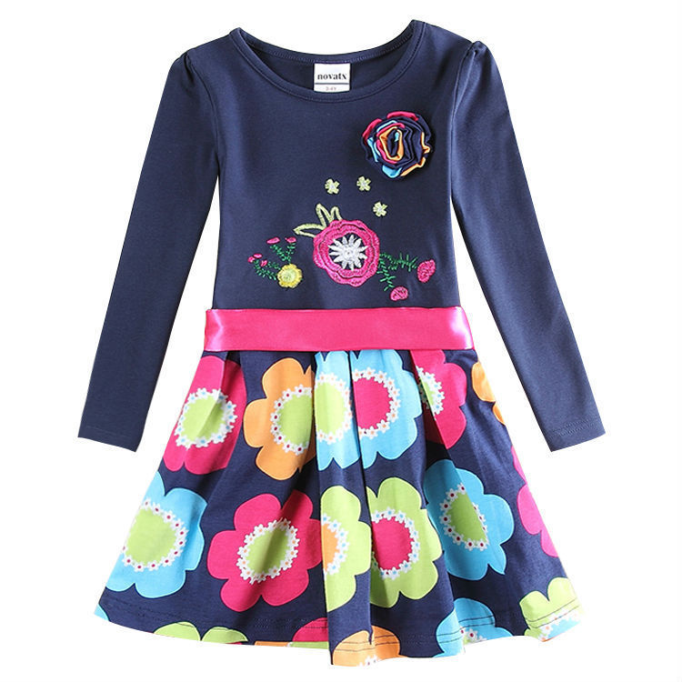 Baby Girl Roupa Infantil Nova Kids Girl Floral Dress Lovely Tutu Dress All for Children Clothing and Accessories H5868#(China (Mainland))