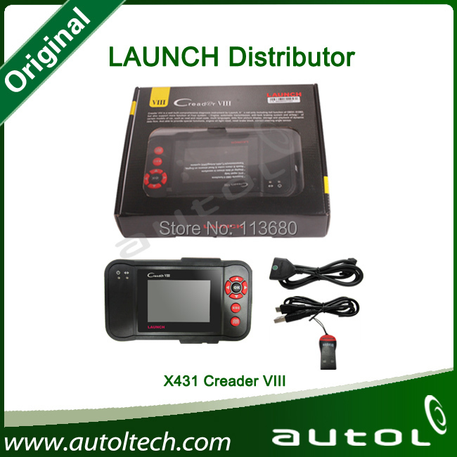 [Authorized Distributer] Newly Design Launch X431 Creader VIII Code Reader 8 Automotive full System Scan tool same as CRP129(China (Mainland))