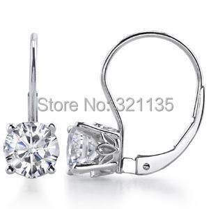 Vintage Scroll Leverback  Earrings 14K gold Total 1 carat One Pair Lab Grown Moissanite diamond stud earrings for loves<br><br>Aliexpress