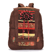 2016 Women Ethnic Backpack Student Book Bag Woman Casual Travel Rucksack Teenage Girl School Bags Vintage Suede Backpack JXY549(China (Mainland))