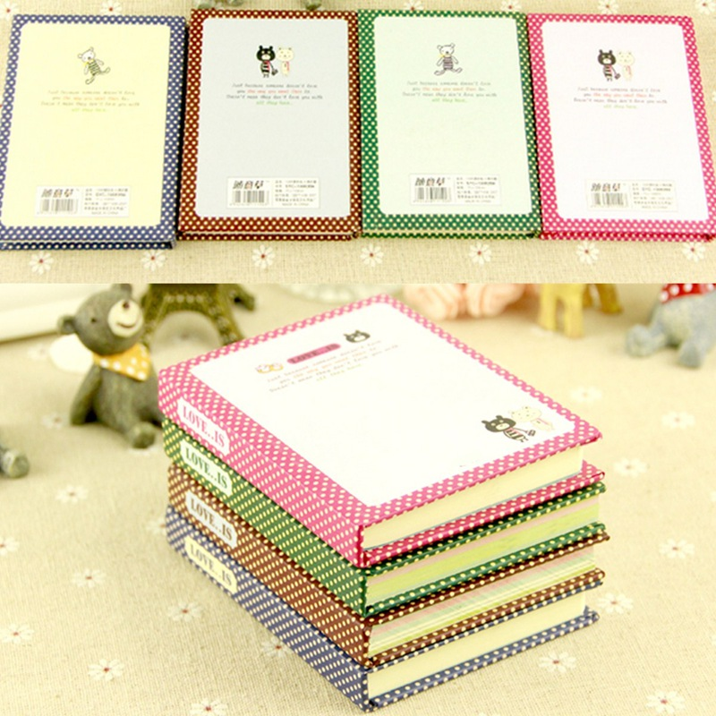 2016 Newest Unique Design Gift Girls Vintage Style Hard Cover Diary Memo Notebook School Stationery Supplies Color Randomly(China (Mainland))