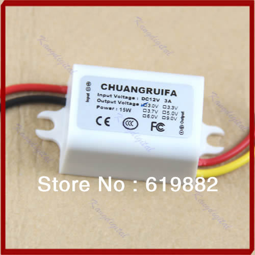Wholesale&Retail DC/DC Converter 12V Step Down To 3V 3A 15W Power Supply Module New