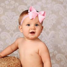 Baby Bow Headband Hair Bowknot lace Headbands Infant Hair Accessories Girls grosgrain ribbon Bow Headband Toddler hairbands W116