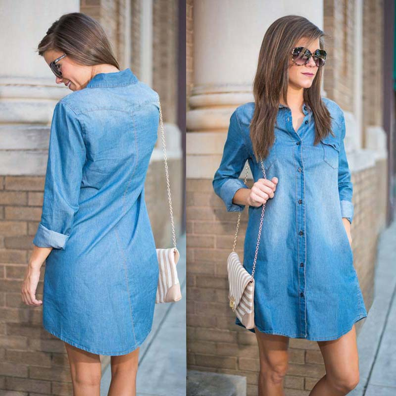 Женское платье Denim dress 2015  summer dress женское платье summer dress 2015cute o women dress