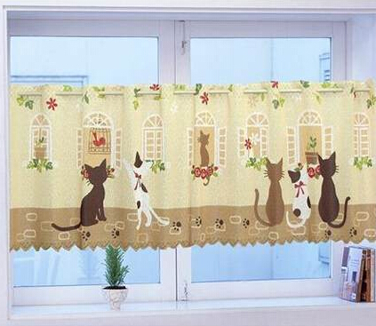 s v fashion hot sale print cafe curtains for living room