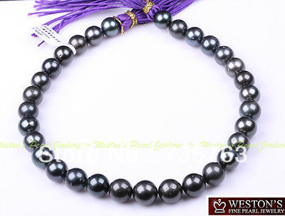 xiuli 00153 14MM NATURAL BLACK GENUINE TAHITIAN PEARL NECKLACE GOLD<br><br>Aliexpress
