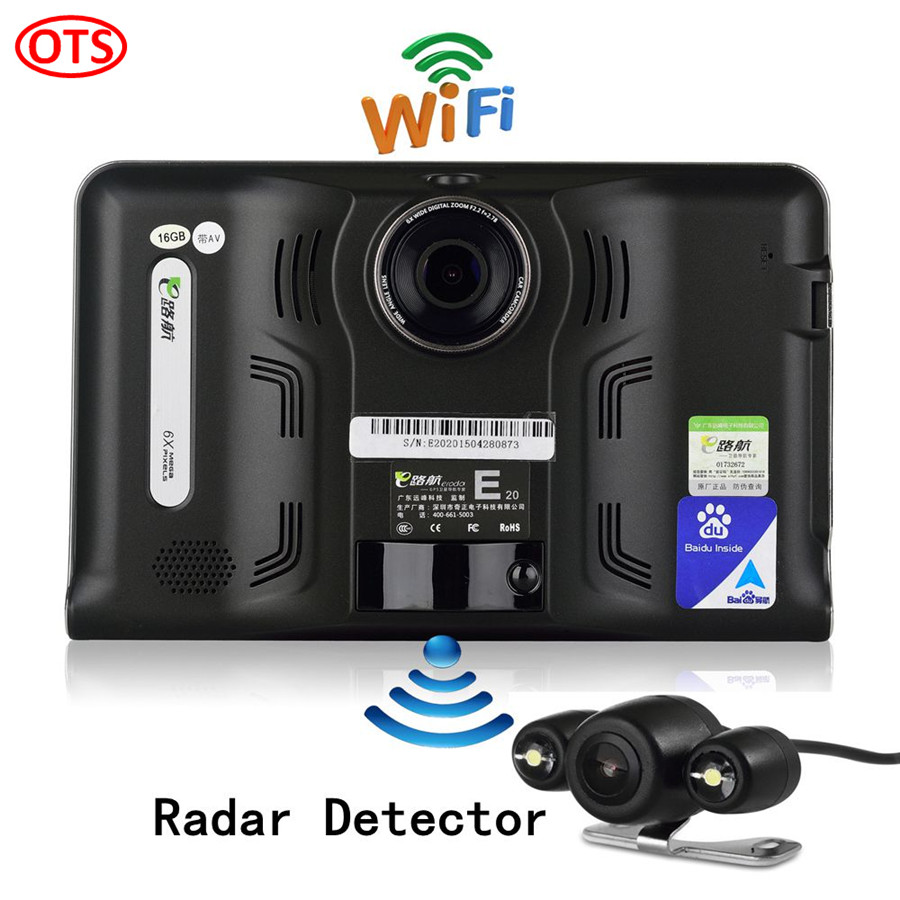 New 7 inch GPS Navigation Android GPS DVR Camcorder 16GB Allwinner A33 Quad Core 4 CPUs Radar Detector Rear View Camera Parking(China (Mainland))