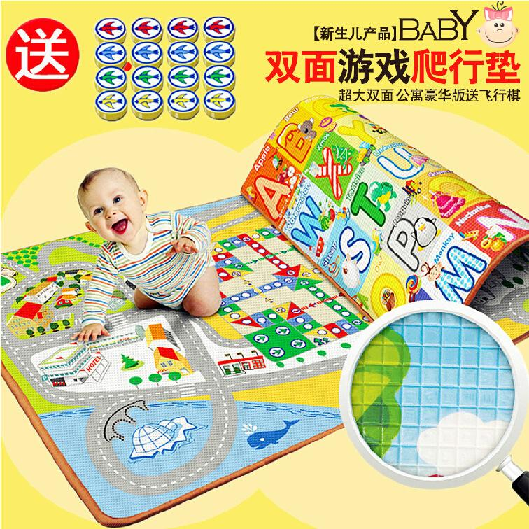 2 Meters Doulble-Side Large Baby Play Mat Baby Activity Mat Child Crawling Mat Baby Floor Mat Cartoon Blanket Rug flying carpet(China (Mainland))