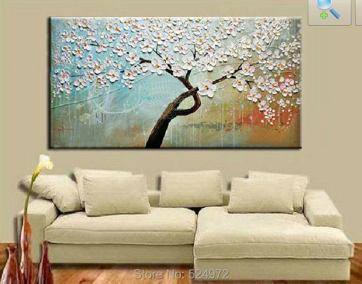 tree white flower sky blue color