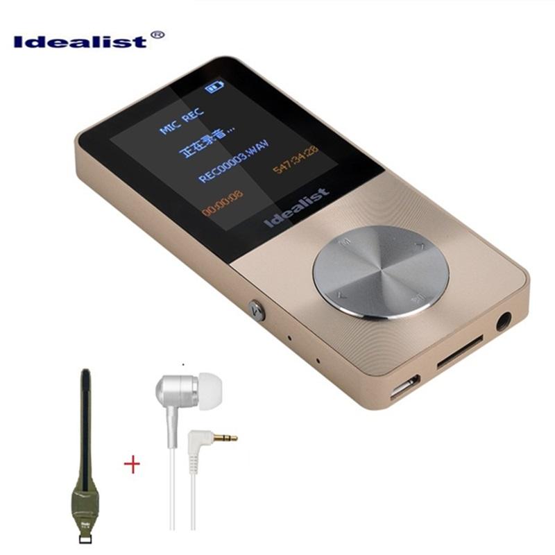 Brand Idealist Metal MP3 MP4 Player 4GB Video Sport MP4 Flash HIFI Mini MP4 Music Slim MP4 Video Player Radio Recorder Walkman(China (Mainland))