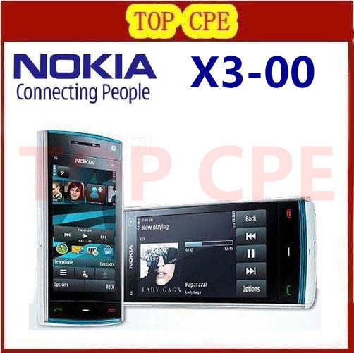 Refurbished free shipping Original Nokia X3 Bluetooth JAVA 3.2MP Unlocked Mobile Phone Wholesale In Stock Russian keyboard(China (Mainland))