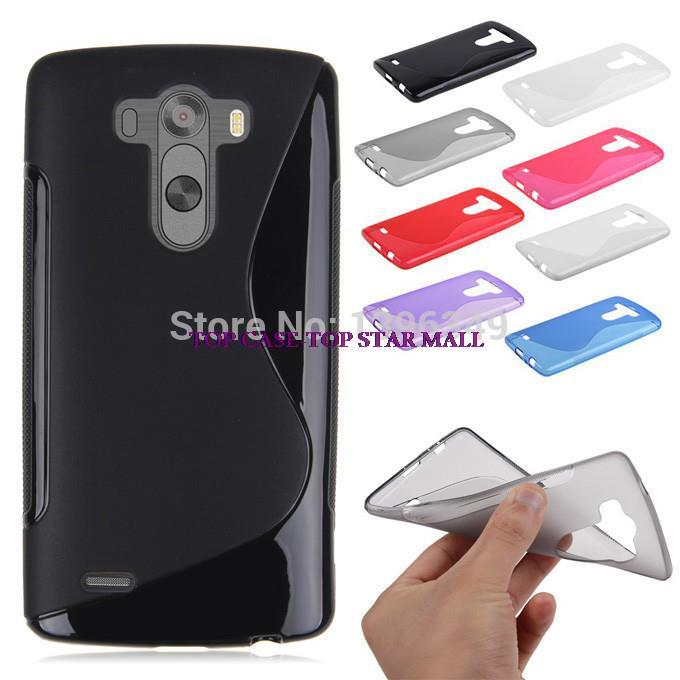 8colors.soft TPU S line clear rubber silicon case for LG G3 mini cover for LG G3 MINI D722 D725 D728 D724 case,free shipping(China (Mainland))