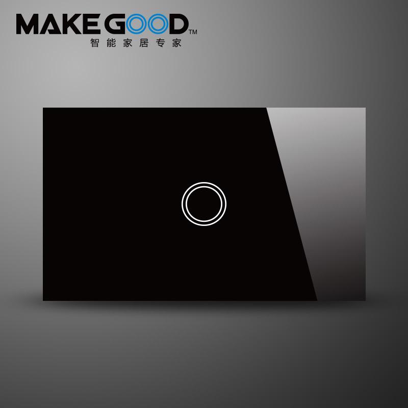 Настенный переключатель MakeGood 1 1 AC 110/240v LED MG-US01B
