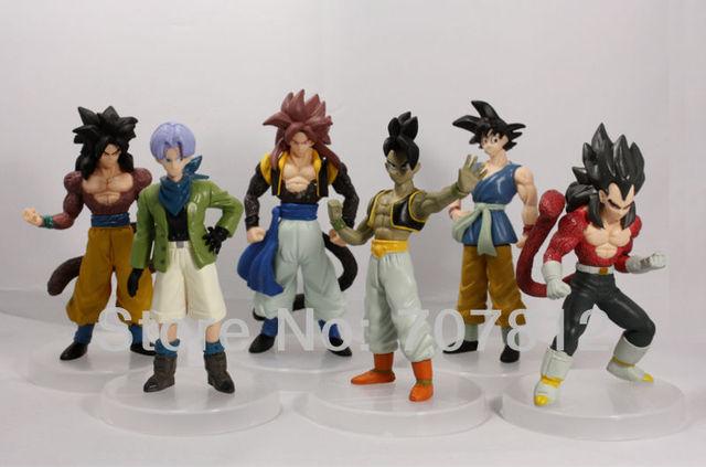 2013 New Dragon Ball Z GT Action Fiuger Toys Japanese Anime Figures PVC Goku/Vegeta 13CM 6pcs/set  Best Gifts  Free Shipping