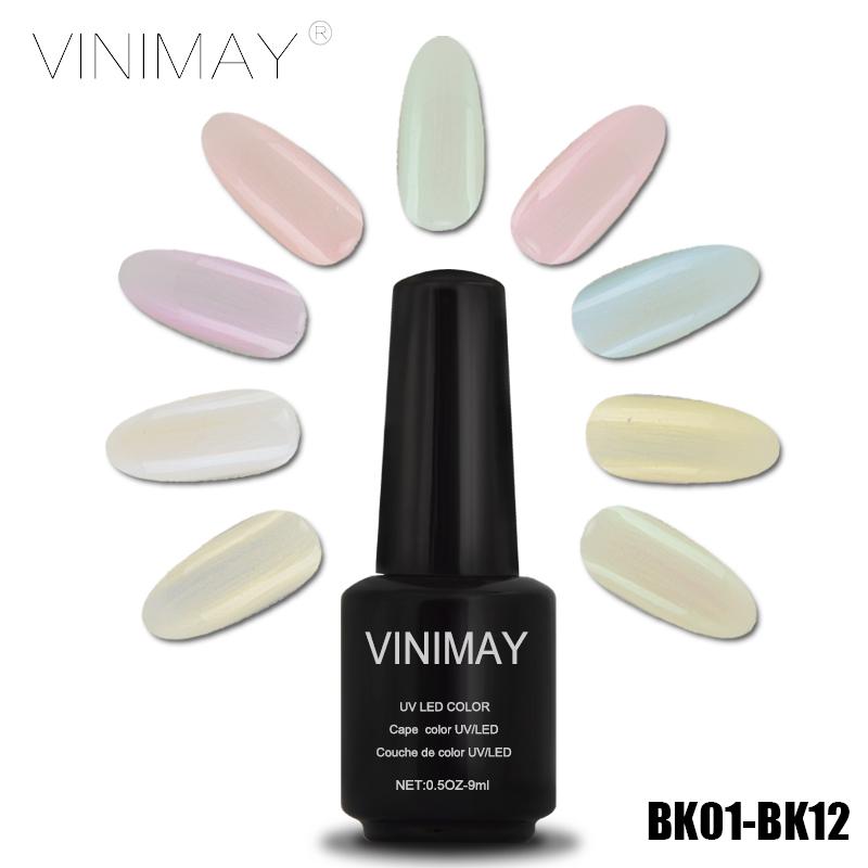 VINIMAY Pearl Shells 12 Color LED UV Gel Nail Polish Art Soak off Vernis Semi Permanent Gels Professional 3 in 1 gel Nail Glue(China (Mainland))