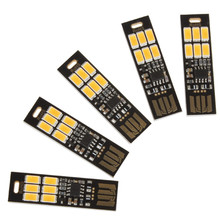 Soshine Mini USB Power 6-LED Night Light 1W 5V Touch Dimmer Warm Light(5 Pcs)(China (Mainland))