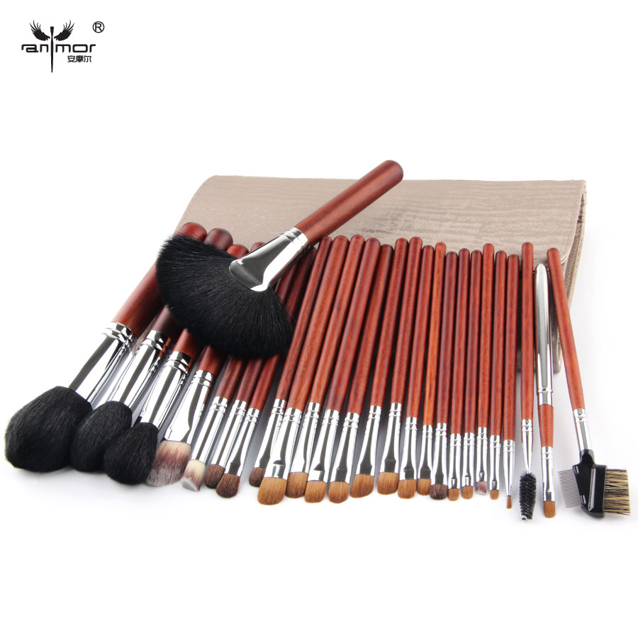 Top Quality Makeup Brush Set Professional 26 pcs Copper Ferrule Makeup brushes For Make Up Cosmetic Brush Tool Kit With Bag<br>