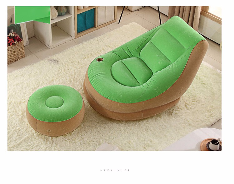 Lazy sofa single small inflatable sofa bed bedroom balcony nap creative leisure hostel lazy chair 4pc
