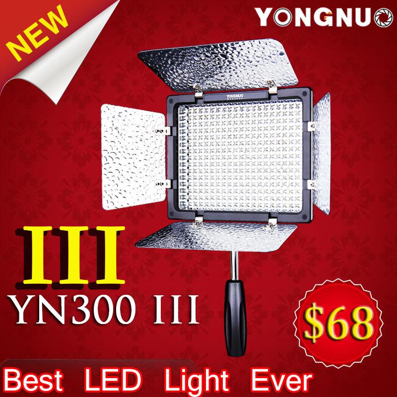 Фотография Free Gifts Yongnuo YN300 III YN-300 lIl CRI95+ Pro LED Video Light with Remote Control for Canon Nikon Sony Camcorder