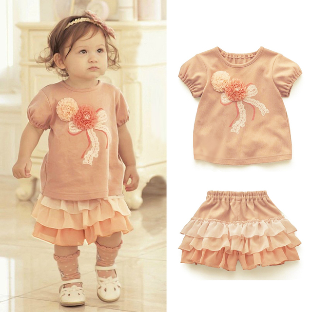 2013 summer clothes culottes set infant summer female baby clothes baby clothes children's clothing