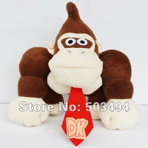 "Free shipping EMS High Quality soft plush super  Mario Bros 12""  DONKEY KONG Plush Doll Figure DONKEY KONG Plush toy dolls"