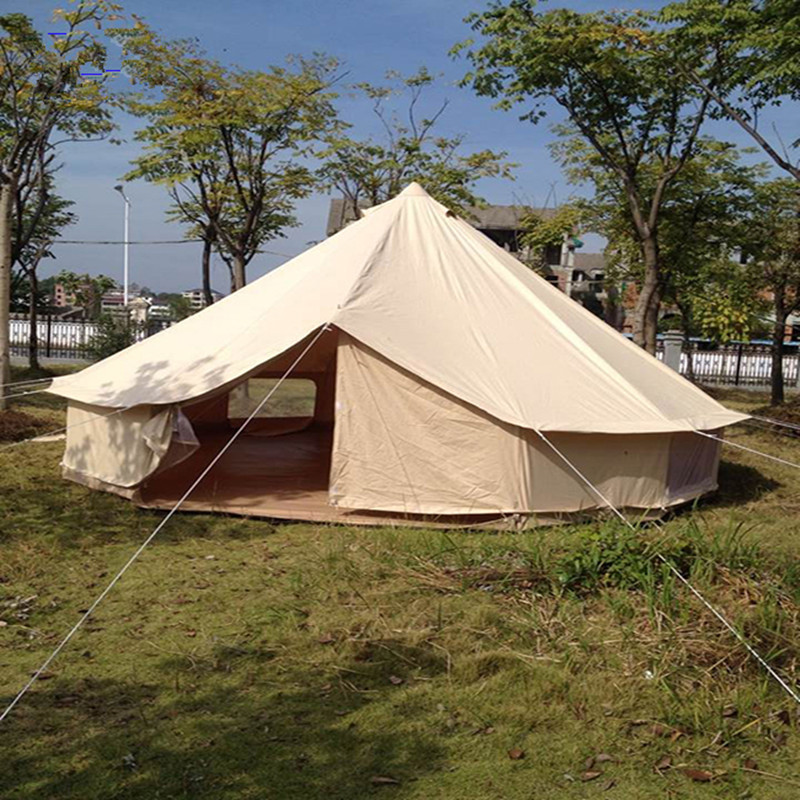 Waterproof 5M bell tent canvas yurt tent canvas tipi tent for sale 5 meters diameter<br><br>Aliexpress