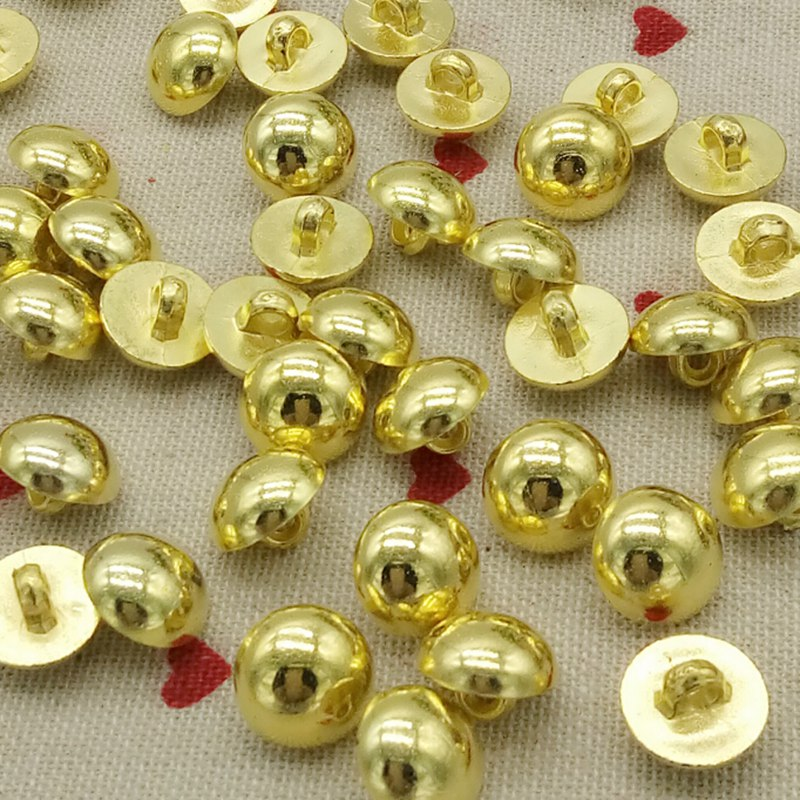100pcs new style wholesale 12mm plating gold buttons apparel sewing acccessories DIY crafts free shipping A173(China (Mainland))