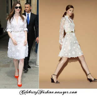 2015 summer casual work dress ball gown basic white embroidery sweet dress hotselling(China (Mainland))