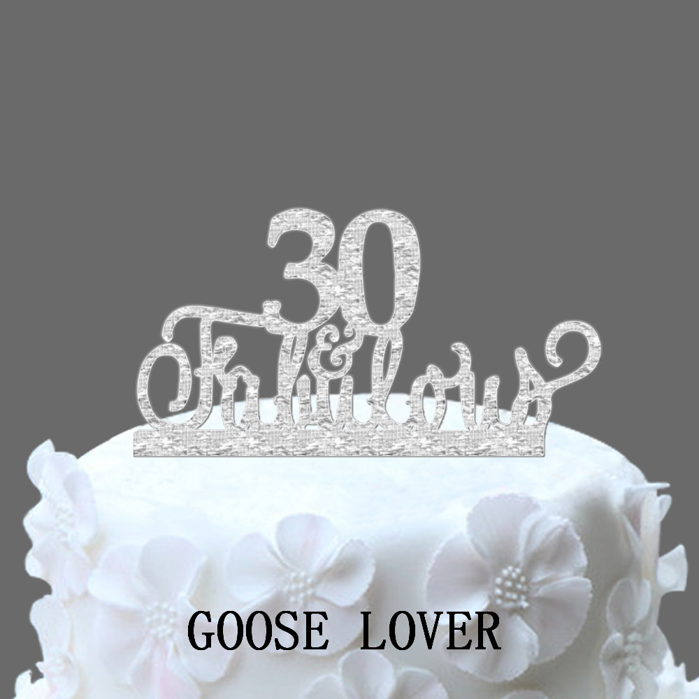 Anniversary 30 years promotion shop for promotional for 30th birthday cake decoration