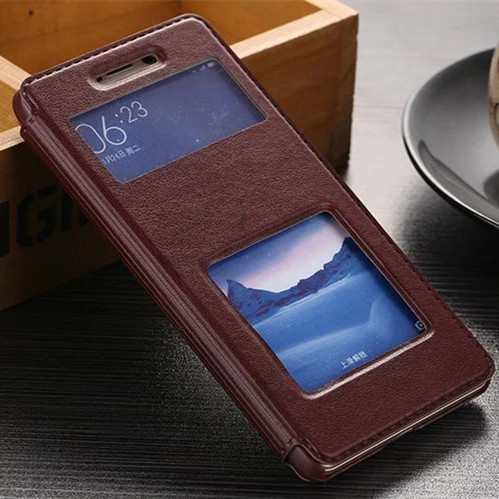 lip back coque cover case for xiaomi redmi 3 pro 3s s 3x x pu leather original luxury stand phone brand window battery cases new(China (Mainland))