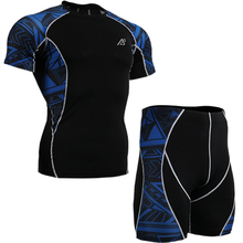 Men Short Compression Base Layer Surfing Fitness Exercise Shirts Running Trainning Gym Sportswear Shorts Blue C2S